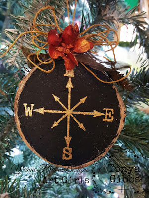 Wooden Ornament by Tonya Gibbs for Yvonne Blair Designs #iostamps #ybartgirls