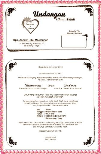 Undangan Akad Nikah Fatmawati