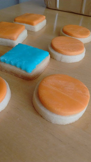 galletas, mantequilla, fondant