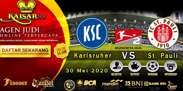 Prediksi Bola Terpercaya Liga Bundesliga 2 Karlsruher vs St. Pauli 30 Mei 2020
