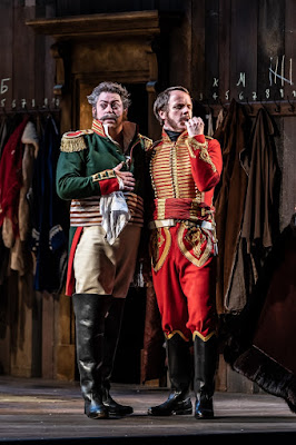 Prokofiev: War and Peace - David Stout as Dolokhov, Adrian Dwyer as Anatole - Welsh National Opera (Photo Clive Barda)