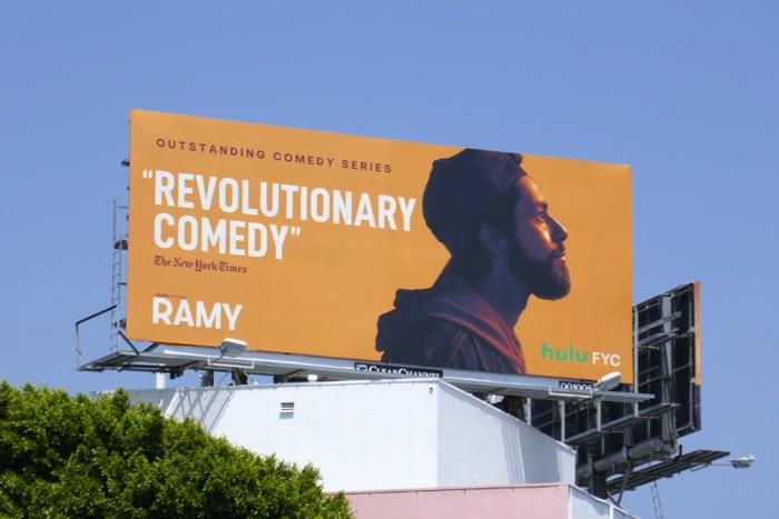 Ramy season 1 Hulu Emmy FYC billboar