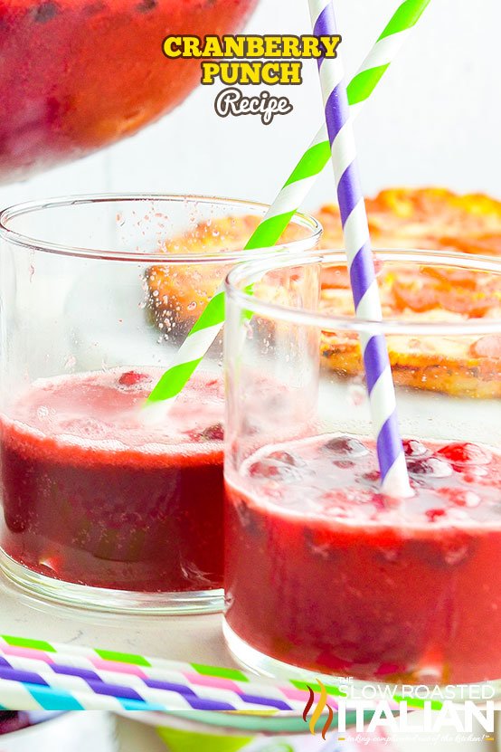 Cranberry Punch in glasses