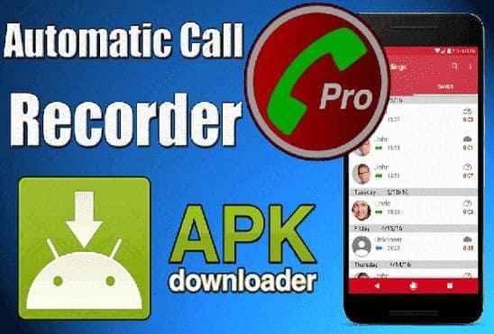 تحميل تطبيق تسجيل المكالمات Automatic Call Recorder Pro Apk نسخة مدفوعة مجانا للاندرويد