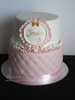 Bolo do 8º aniversário da Jessica
