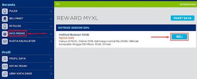 Promo Reward MyXL HotRod 15 GB Hanya 120 Ribu