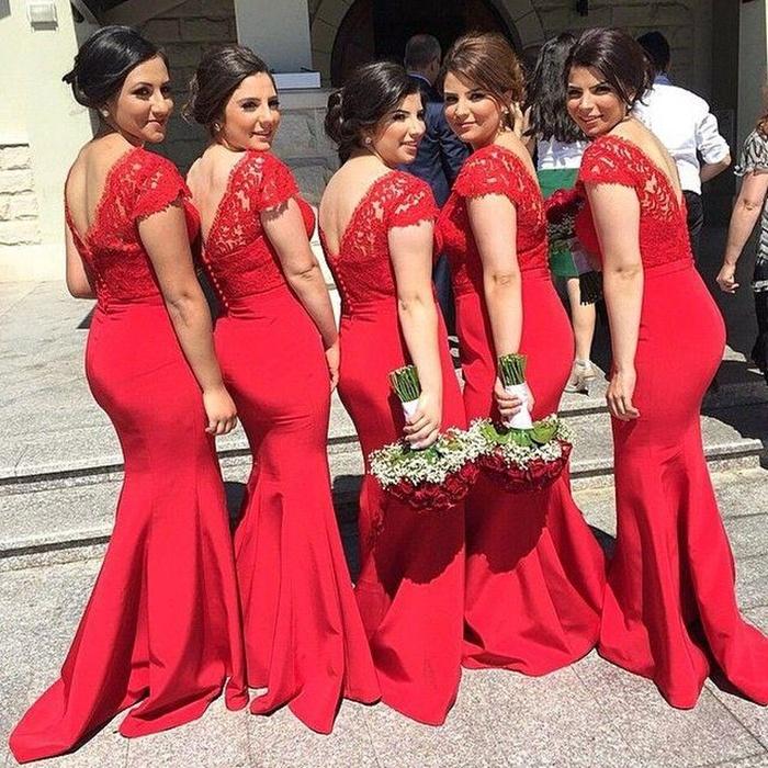 https://www.27dress.com/p/modern-red-mermaid-bridesmaid-dress-lace-appliques-102609.html