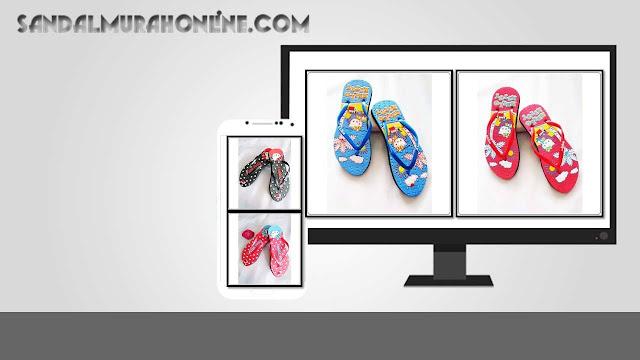 Pusat Penjualan SANDAL Jepit ABBE Hellokity Simplek ONLINE