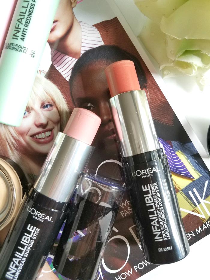 Review: L´Oreál Paris - Infaillible Shaping Stick Blush - 9g - je 9.95 Euro - Rosy Nude / Sexy Flush