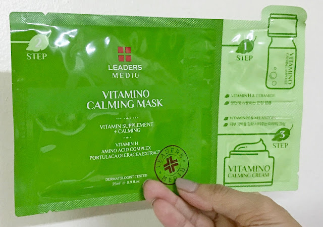 a photo of Leaders Mediu 3-Step Vitamino Calming Mask