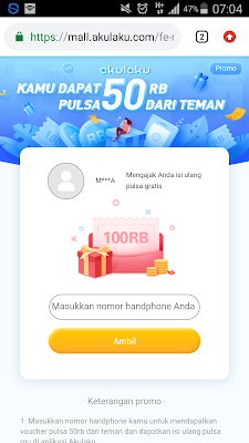 pulsa gratis xl 50 ribu dari aplikasi akulaku
