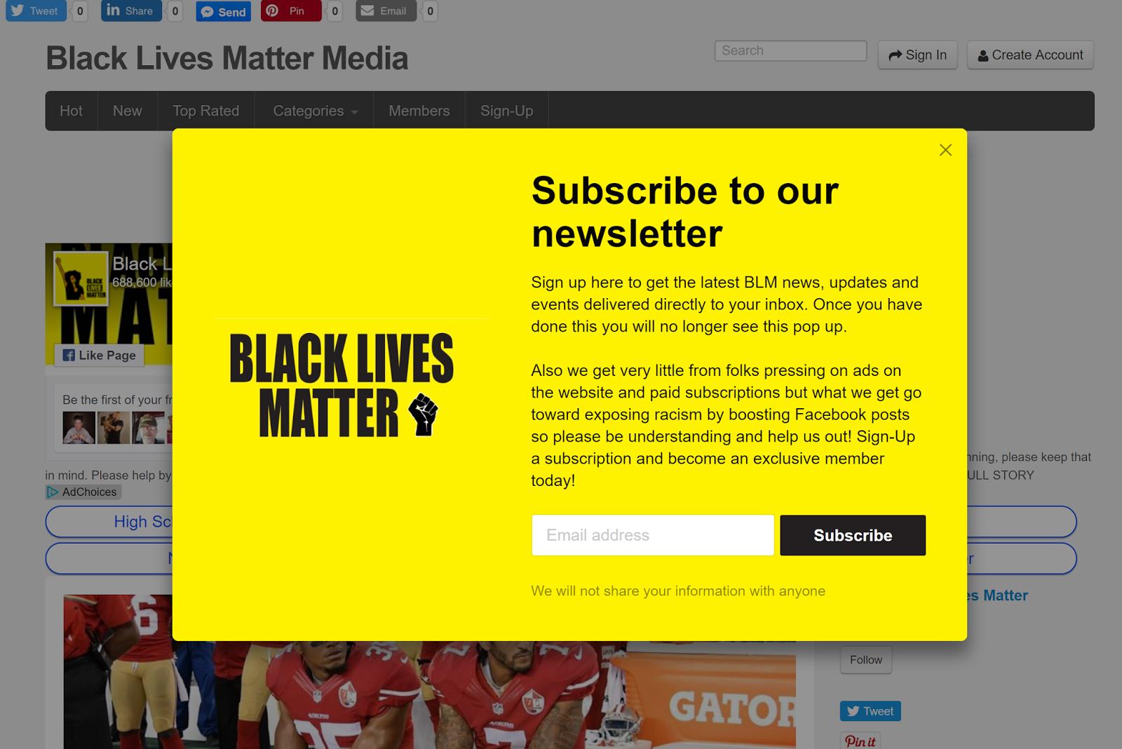 Homepage black