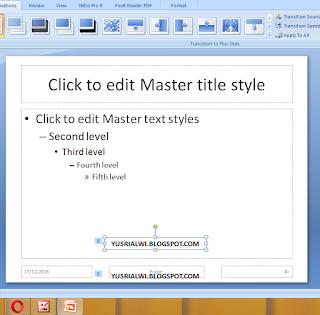 Cara Membuat Teks Berjalan Pada Power Point Dengan Slide Master