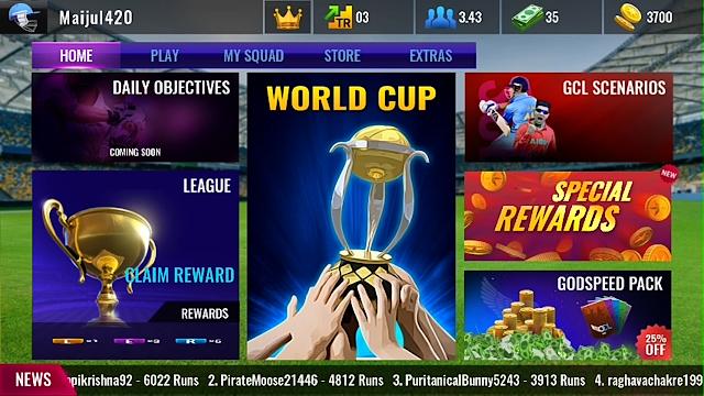 Cricket League GCL World Cup Update