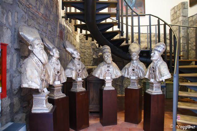 Busti della sezione di arte sacra del Museo di Viterbo