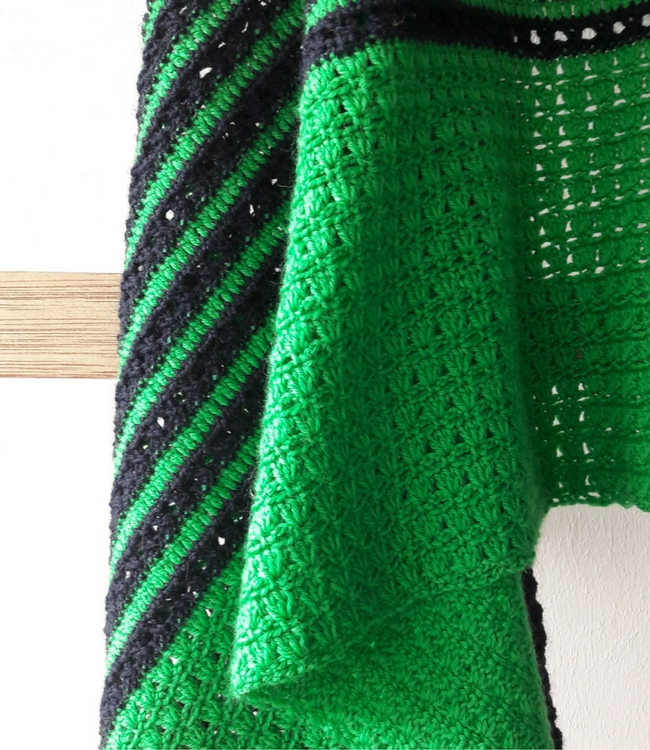 Haakpatroon gehaakte sjaal: sunrise shawl   Happy in Red