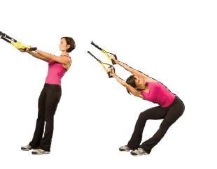 Lower back TRX stretching