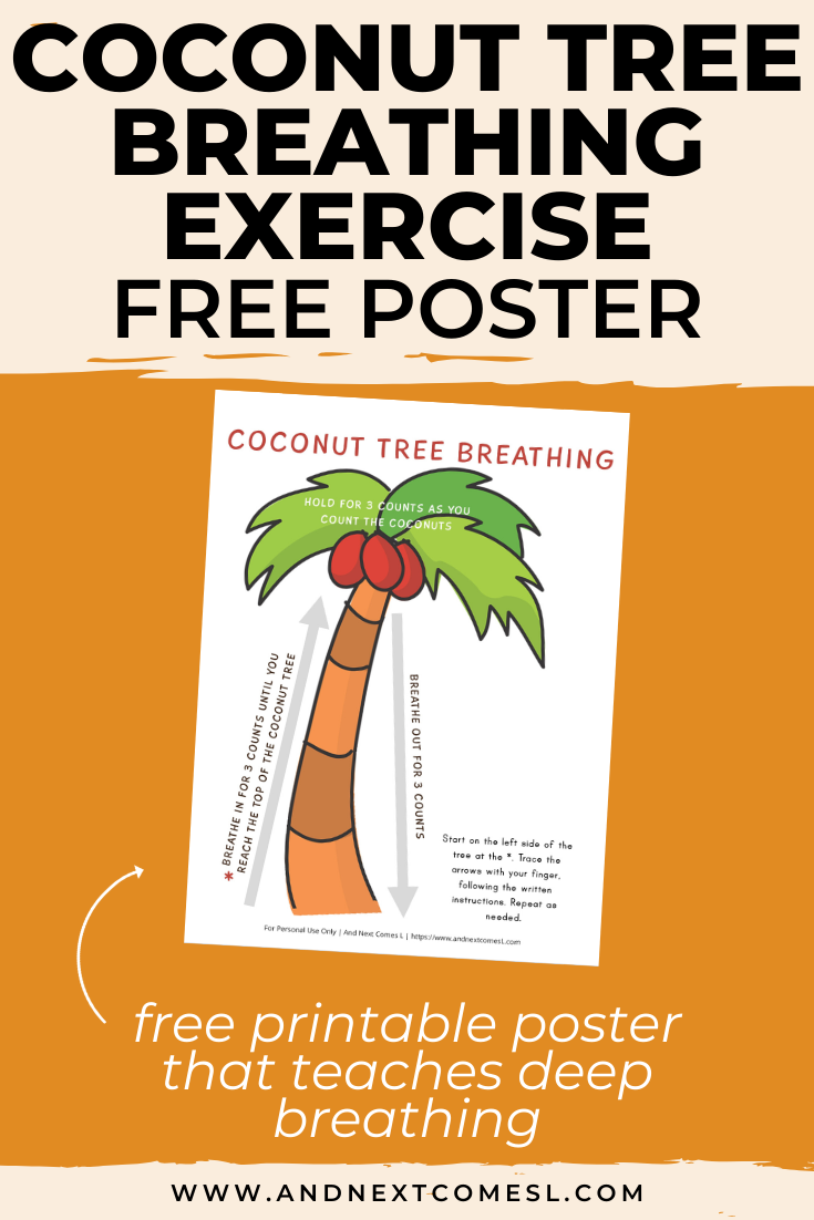 Free deep breathing printable for kids inspired by the book Chicka Chicka Boom Boom