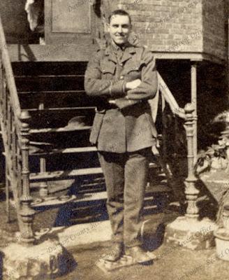 Roland Bradford as a captain, France, c.1915 (D/DLI 7/87/2(20))