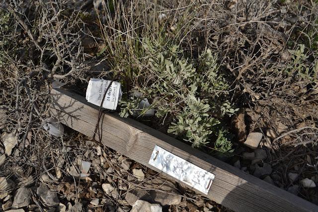 fallen marker and broken claim holder