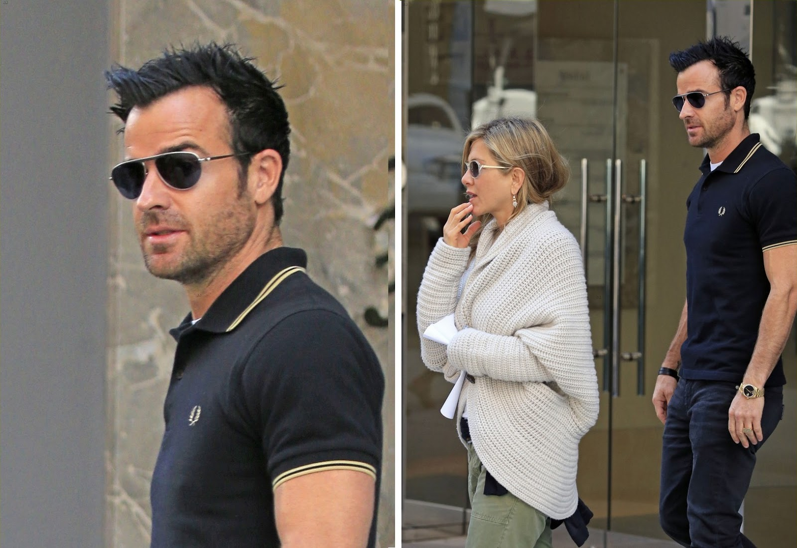 Justin Theroux con polo Fred Perry