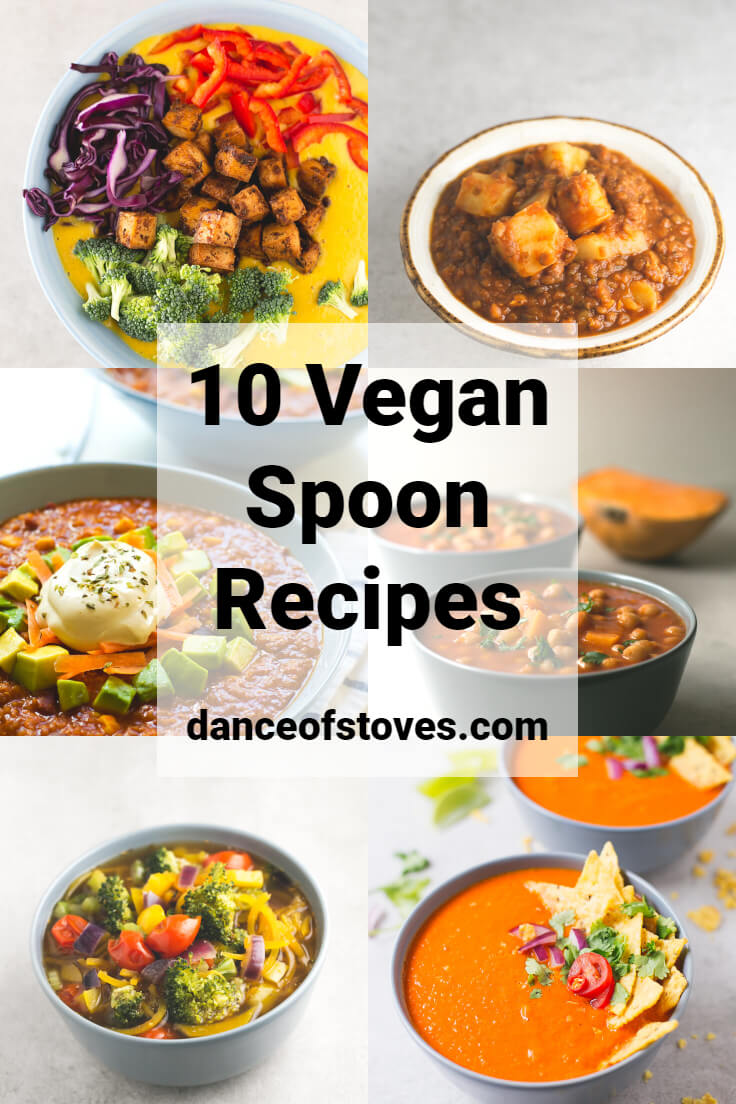 10 Vegan Spoon Recipes - There is nothing better than a good spoon recipe to warm you up. In this compilation, you will find our favourite vegan spoon recipes.