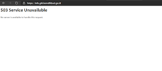 INFO GTK 503 Service Unavailable