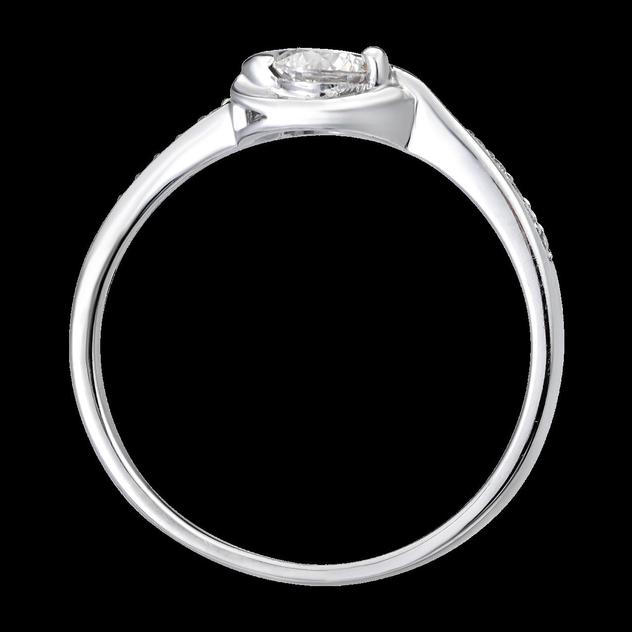 Nhẫn Kim cương Vàng trắng 14K PNJ DDDDW000933