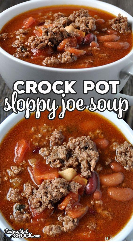 Crock Pot Sloppy Joe Soup