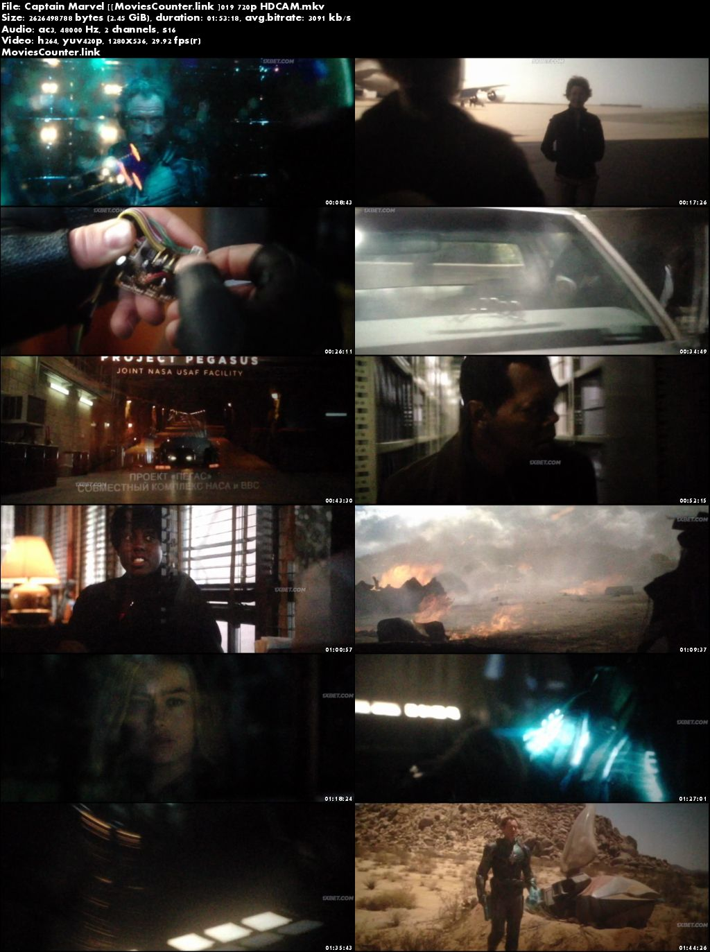 Screen Shots Captain Marvel 2019 Dual Audio HD 720p