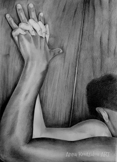 20 Mind-Blowing Pencil Drawings By Greek Artist That Illustrate The Beauty Of Love - Feel your body against mine baby