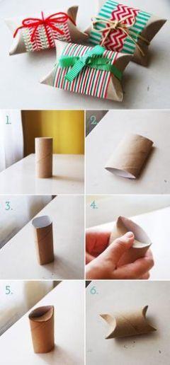 kreasi cara membuat bungkus kado dari kertas karton bekas tissu gulung