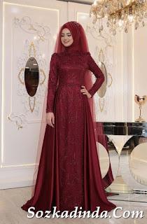 2019 tesettür abiye elbise modelleri