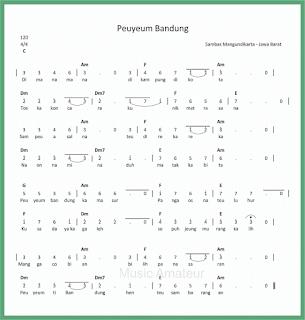 not angka lagu peuyeum bandung lagu daerah jawa barat
