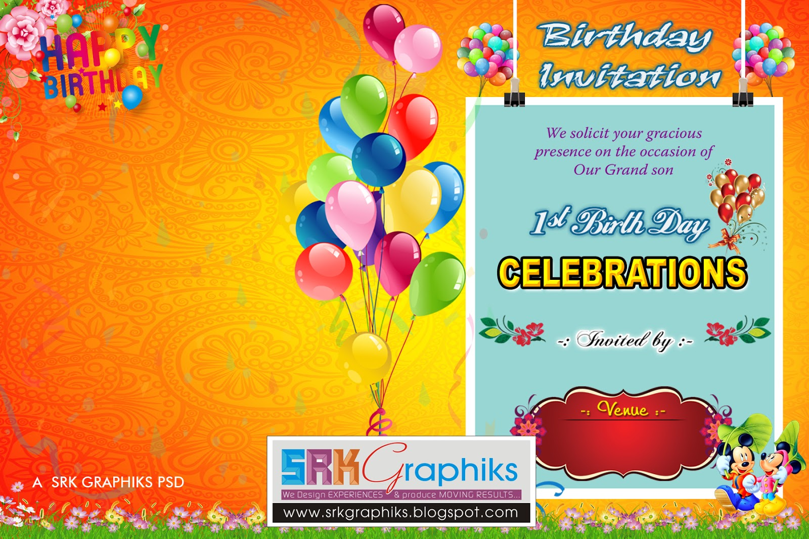 Fantastic Birthday Psd Templates Mold - Documentation Template ...