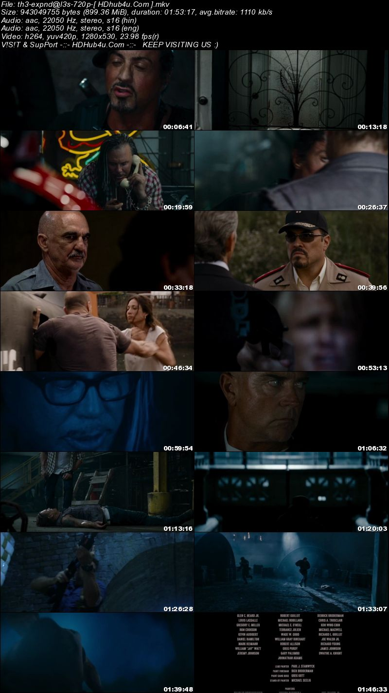 The Expendables 2010 Extended Director Cut 300mb Hindi Dual Audio 480p BluRay Download