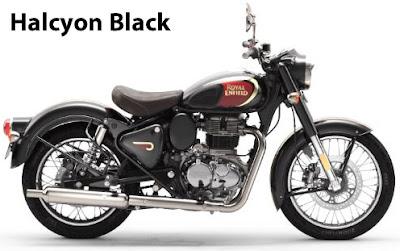 Royal Enfield Classic 350 Halcyon Black.