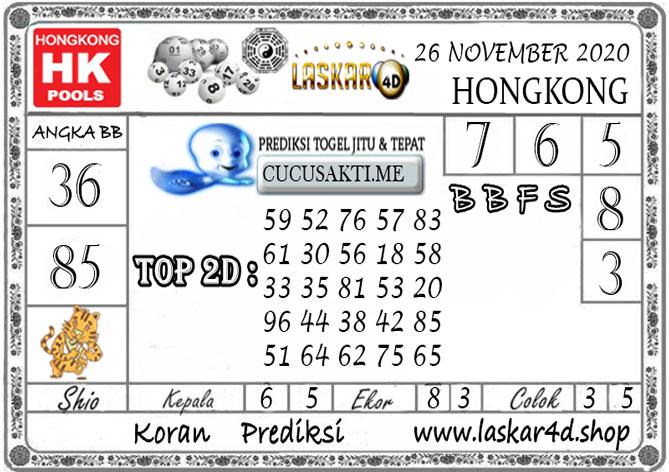 Prediksi Togel HONGKONG LASKAR4D 26 NOVEMBER 2020