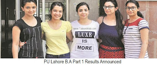 BA Part 1 Result 2018 Punjab University | Pu.edu.pk - Regular & Private