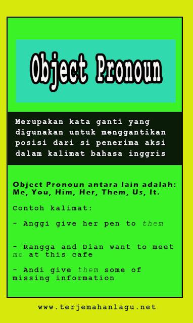 Pengertian Object Pronoun Beserta Contoh Kalimatnya Di Dalam Bahasa Inggris
