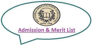 Victoria Institution College Merit List
