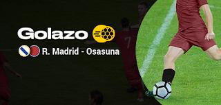 bwin promo liga golazo Real Madrid vs Osasuna 25-9-2019