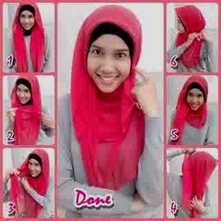 cara memakai hijab paris untuk remaja