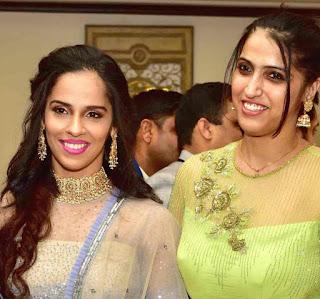 Saina Nehwal With Her Sister