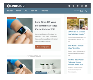 Design, LinkMagz Modèle Premium Blogger Template Responsable ami WordPress
