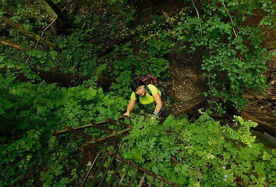 Drabinka przy wodospadzie Ochrancov prírody.