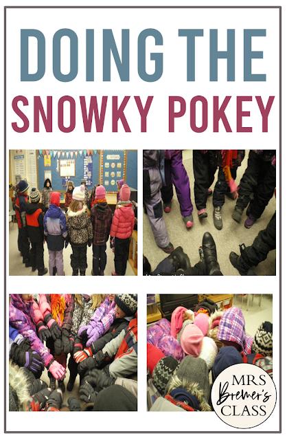 Snowky Pokey winter activity for Kindergarten