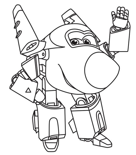 Super wings smart coloring pages 1