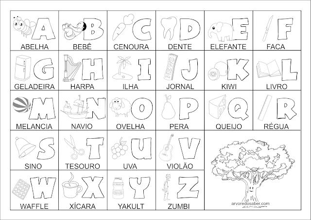 alfabeto com desenhos