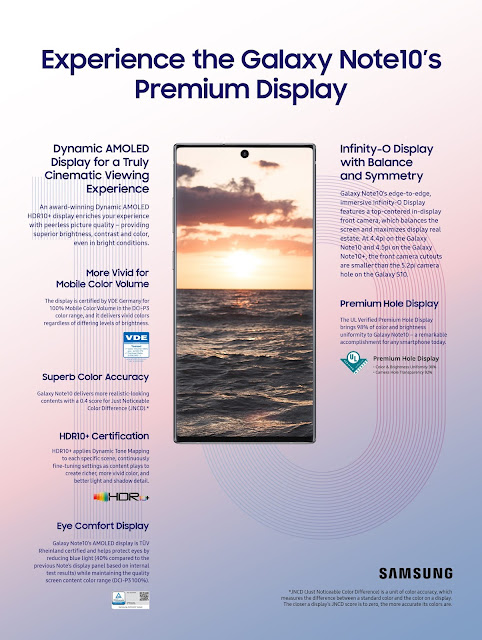 Experience the #GalaxyNote10's Premium Display @SamsungMobileSA #Powerof10
